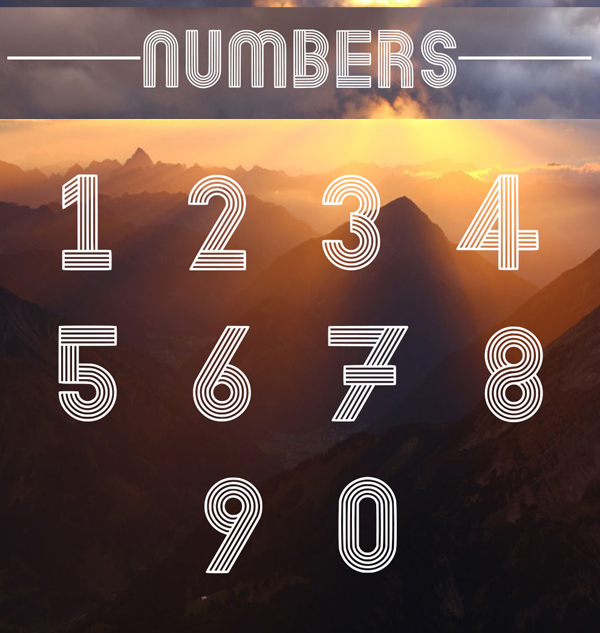 Dubline Font Numbers