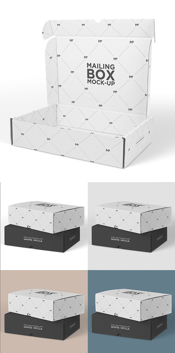 Mailing Box Mock-up