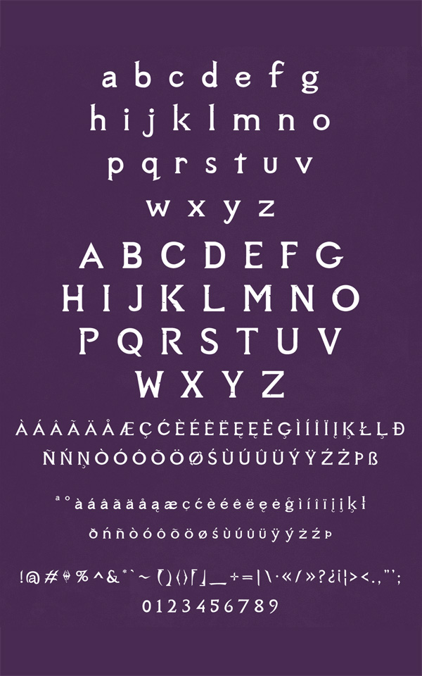 Sovngarde Free Font  Letters