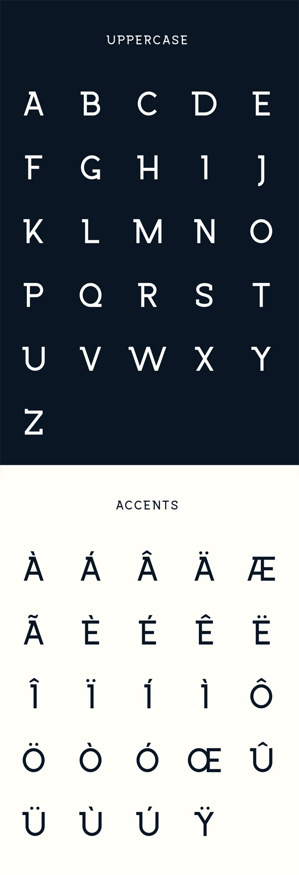 Wrangell Free Font  Letters