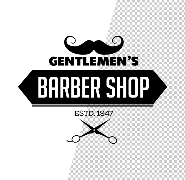 Barber Shop Logo Template - 1