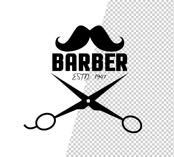 Barber Shop Logo Template - 2