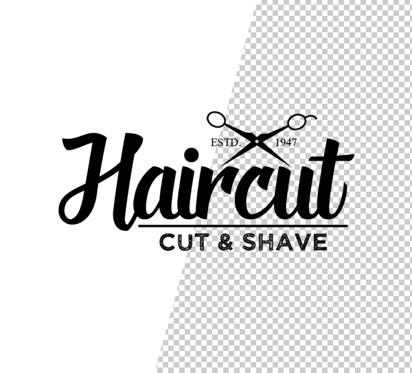 Barber Shop Logo Template - 4