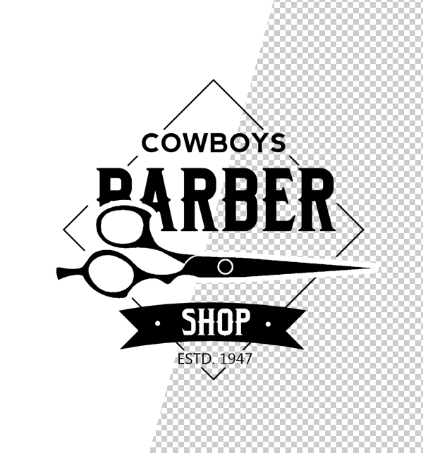 free vintage barber shop logo templates psd freebies graphic