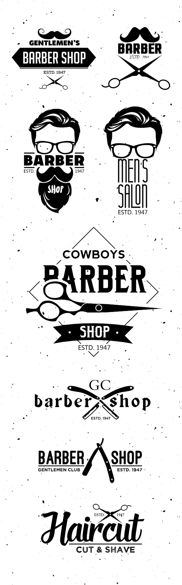 Barber Shop Logo Templates