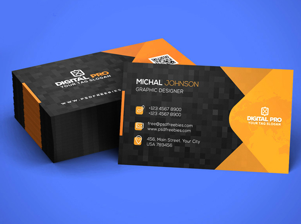 26 Modern Free Business Cards PSD Templates - 12