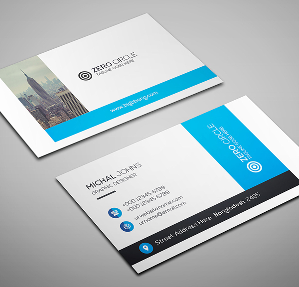 26 modern free business cards psd templates 16