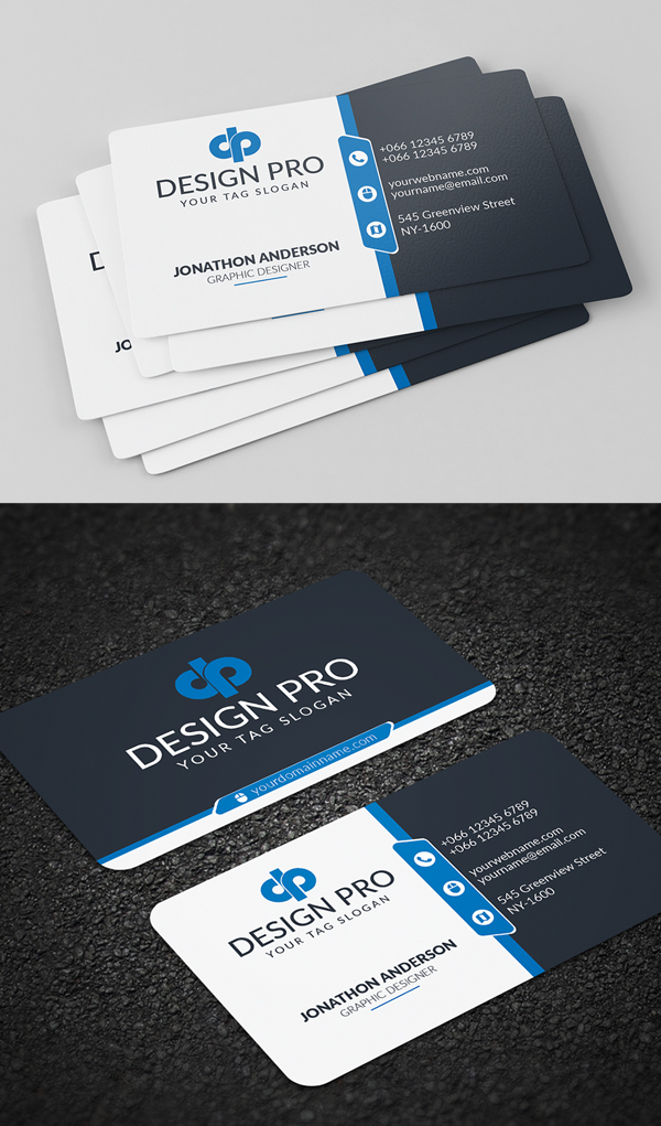 26 modern free business cards psd templates 17