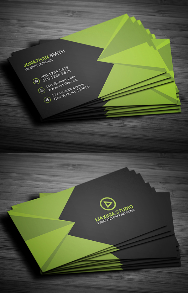 26 Modern Free Business Cards PSD Templates - 19