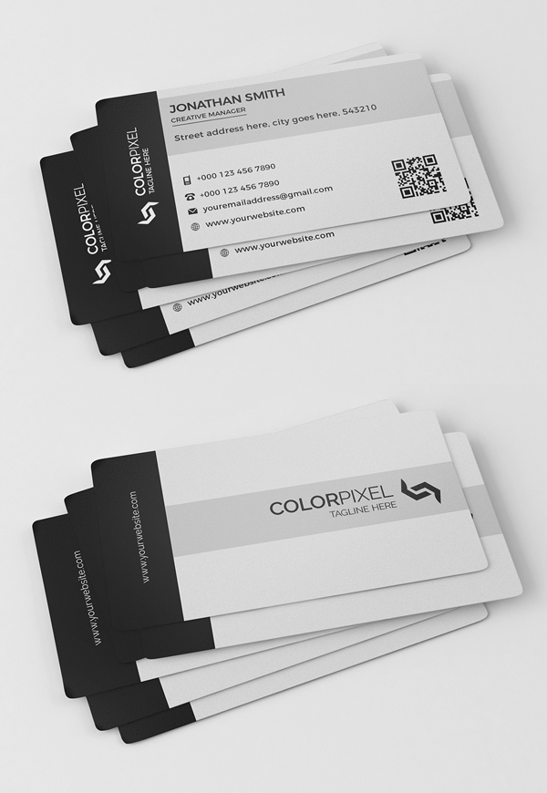 26 Modern Free Business Cards PSD Templates - 26