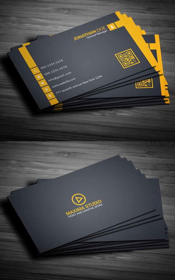 26 modern free business cards psd templates 6