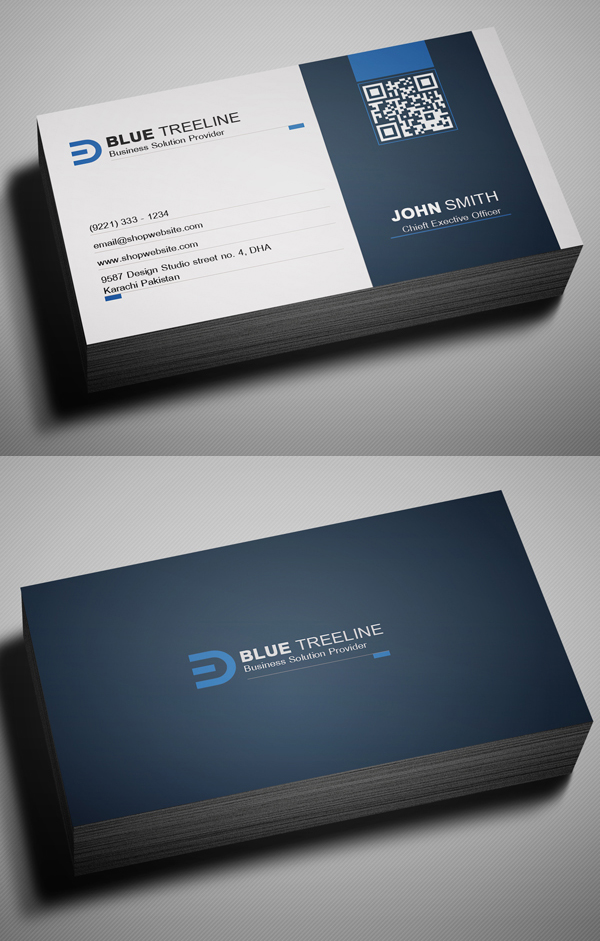 26 Modern Free Business Cards PSD Templates - 7