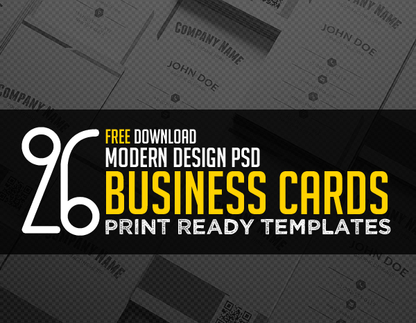 26 Modern Free Business Card Templates Psd Print Ready Design