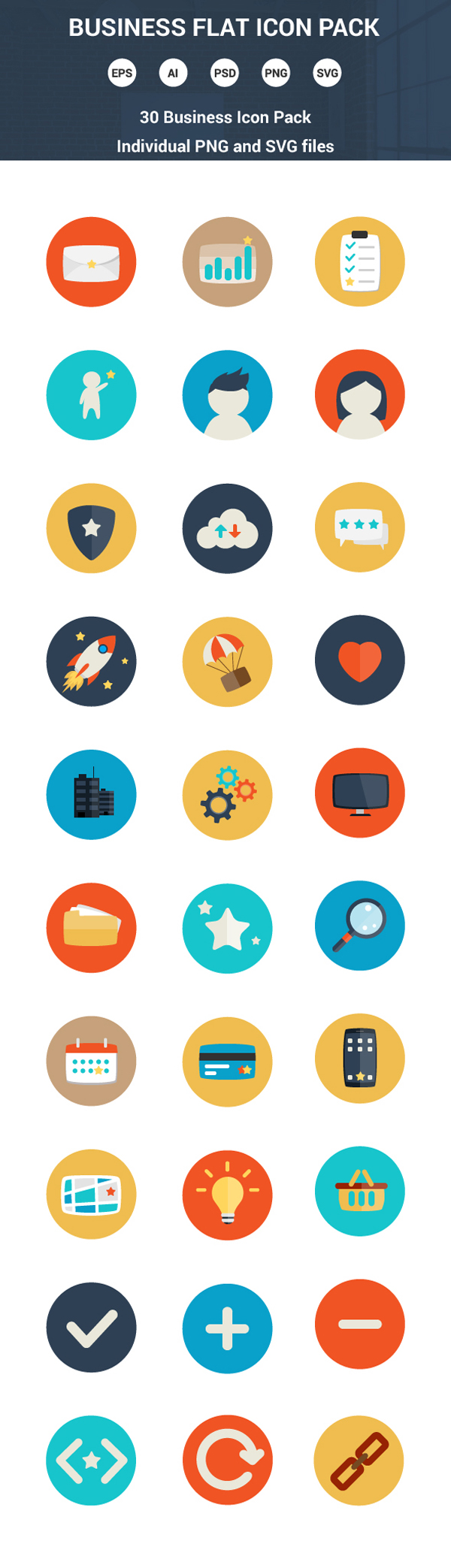 Free Flat Graphics for Designers - 1