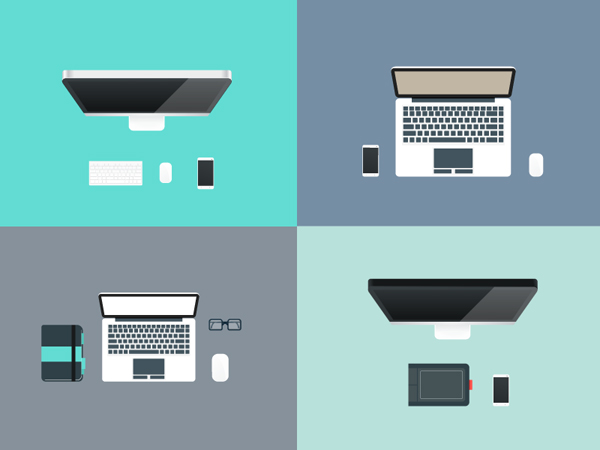 Free Flat Graphics for Designers - 19