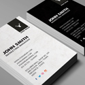Freebie – Vertical Business Card PSD Template