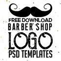 Post thumbnail of Free Vintage Barber Shop Logo Templates (PSD)