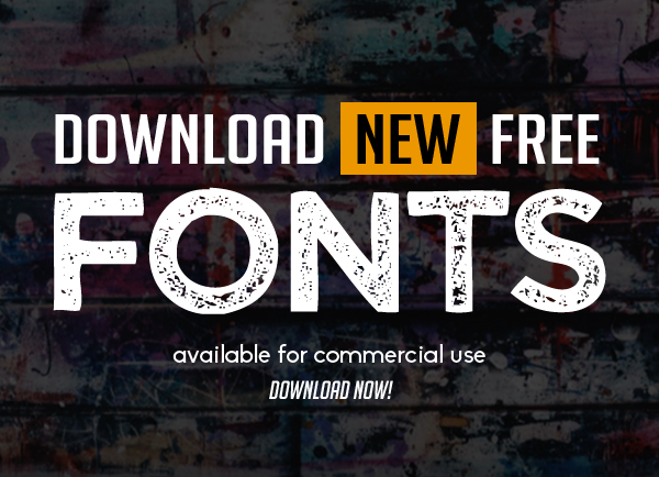 Download New Free Fonts for Graphic Design (16 Fonts)
