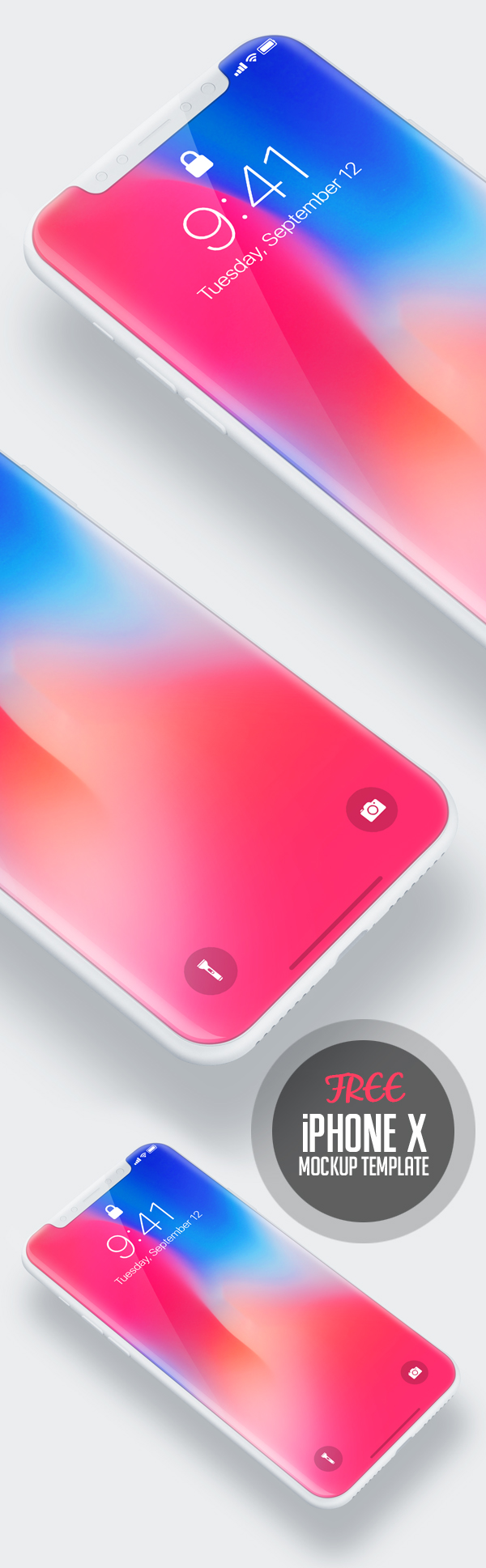 Free Download iPhone X PSD Mockups and Sketch - 2
