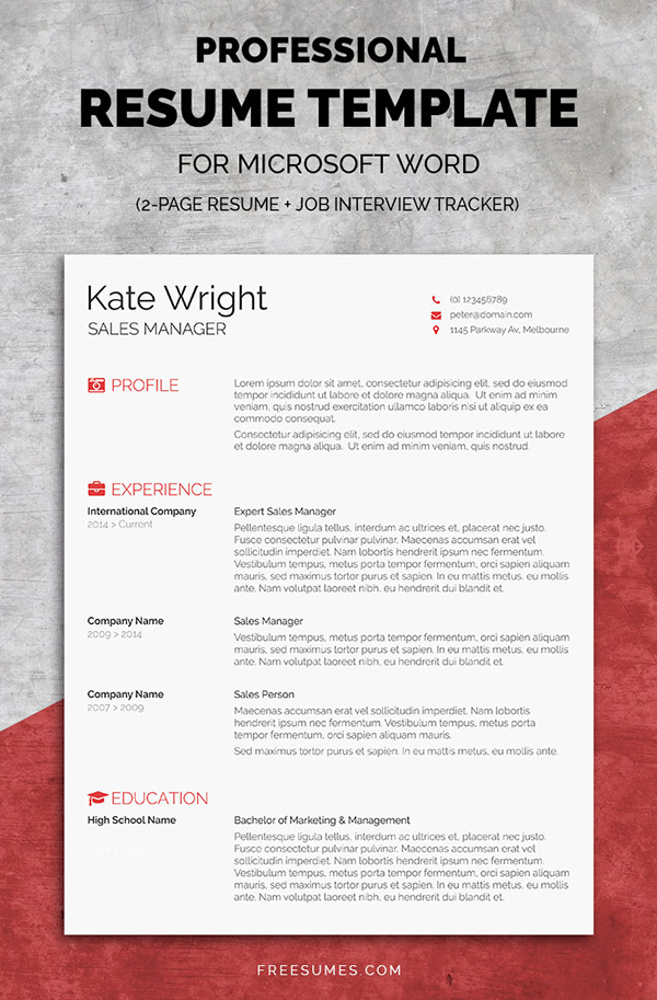 The Minimalist – Complete Resume Pack
