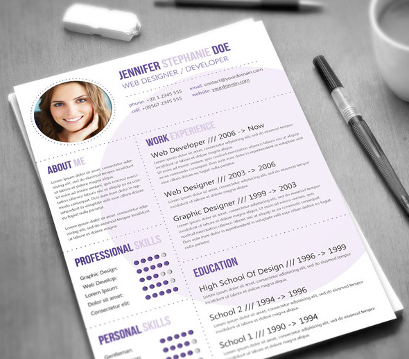 fancy resumes - Fancy Resume Templates