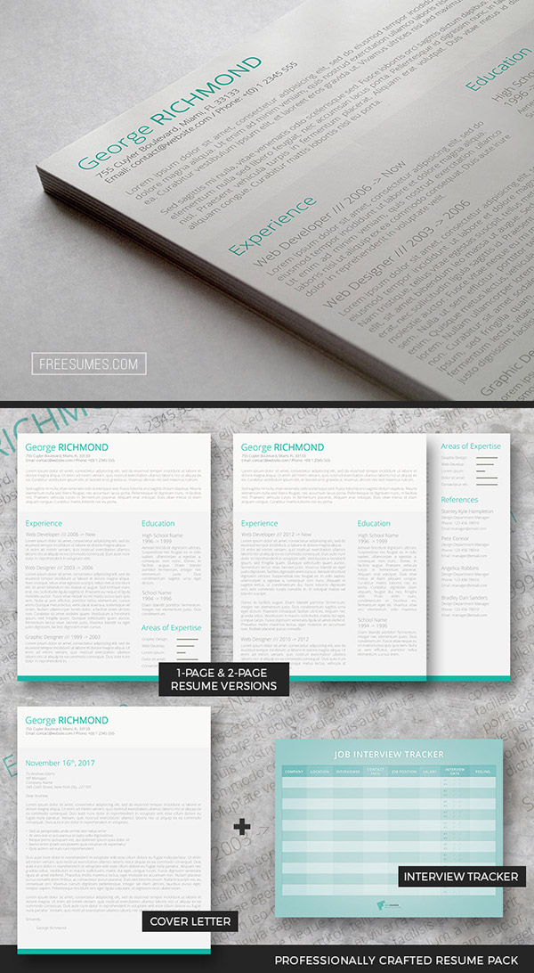 Clever CV Template Pack | A Drop Of Green