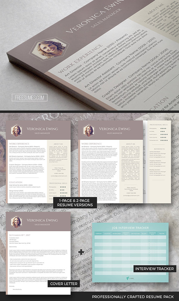 Professional Resume Template Set | The Honeycomb