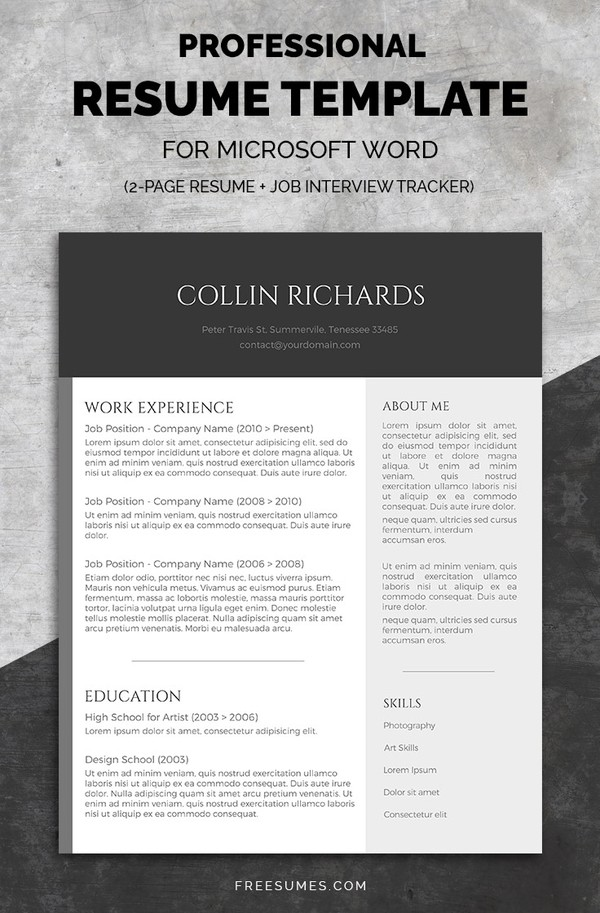 50 best resume templates design graphic design junction professional resume template set plain but trendy maxwellsz