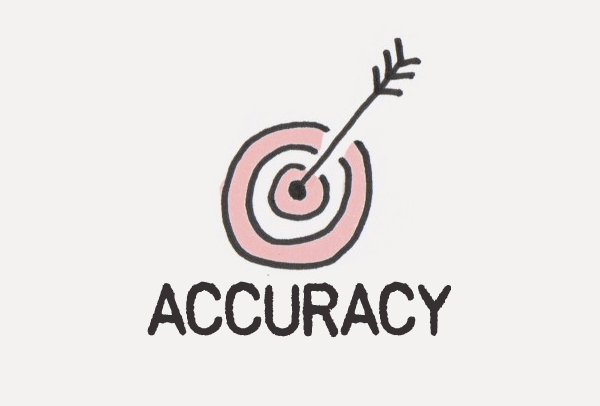 Increased accuracy in reporting