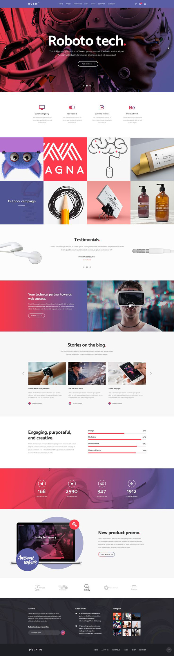 Hoshi - A Modern Theme for Digital Agencies and Freelancers