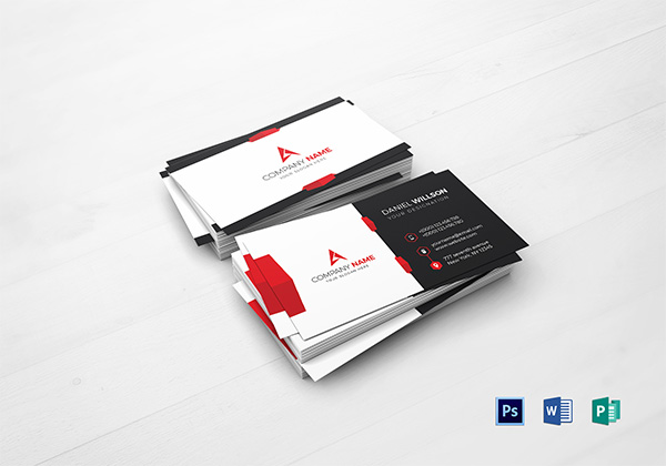Free business cards psd templates print ready design freebies corporate business card template reheart Gallery