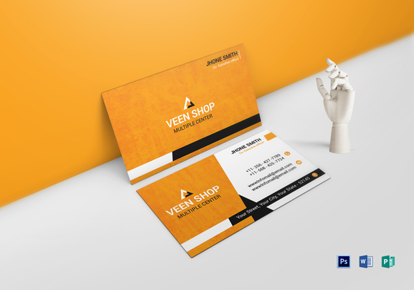 Free business cards psd templates print ready design freebies executive business card template reheart