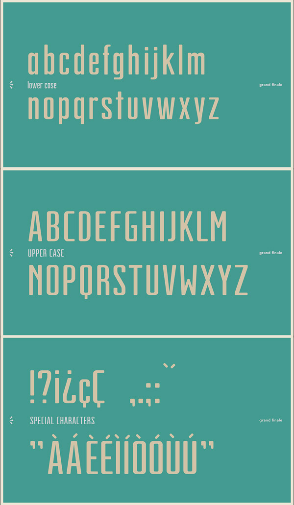 Grand Finale Free Font Letters