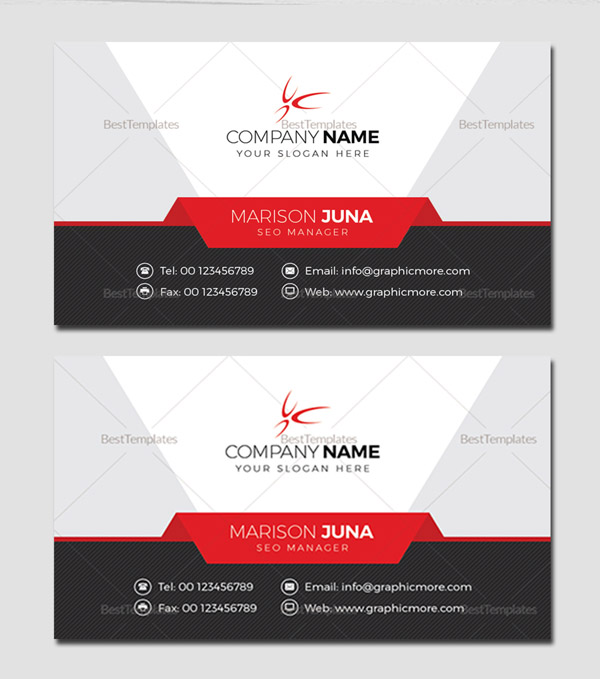 Manager Business Card Template