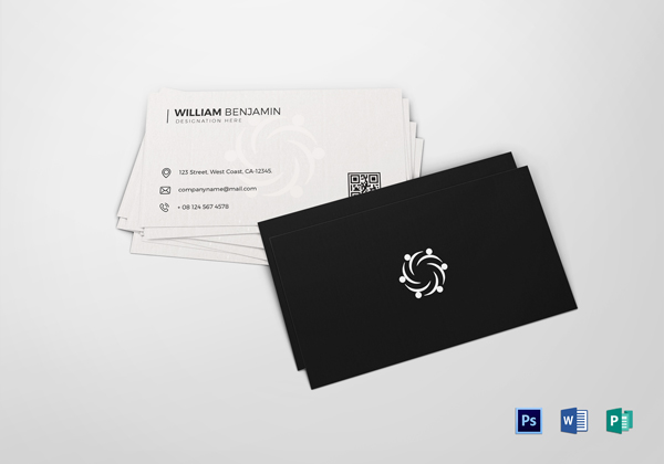 Minimalistic Business Card Designs PSD Templates Design - Personal business cards template