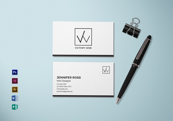 30 minimalistic business card designs psd templates