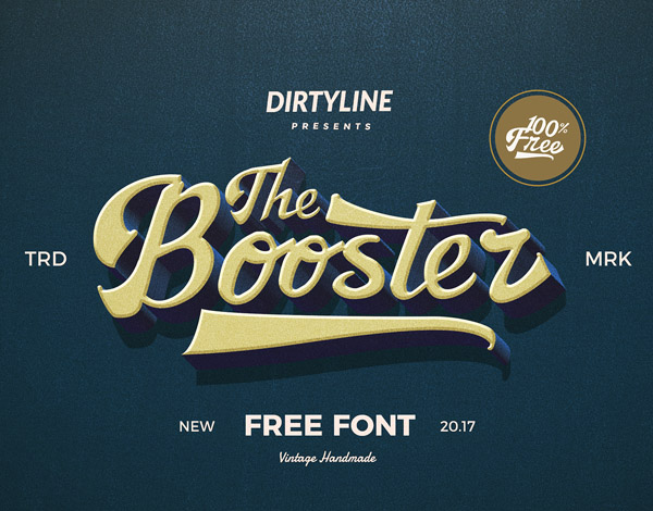 The Booster Free Font