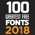 Post thumbnail of 100 Greatest Free Fonts for 2018