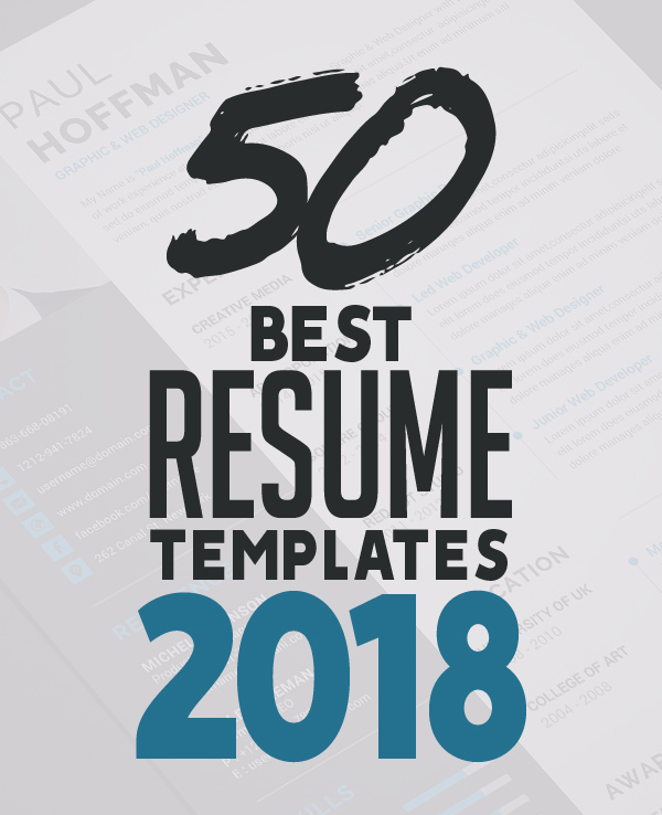 50 best resume templates for 2018 - Resume Templates 2018
