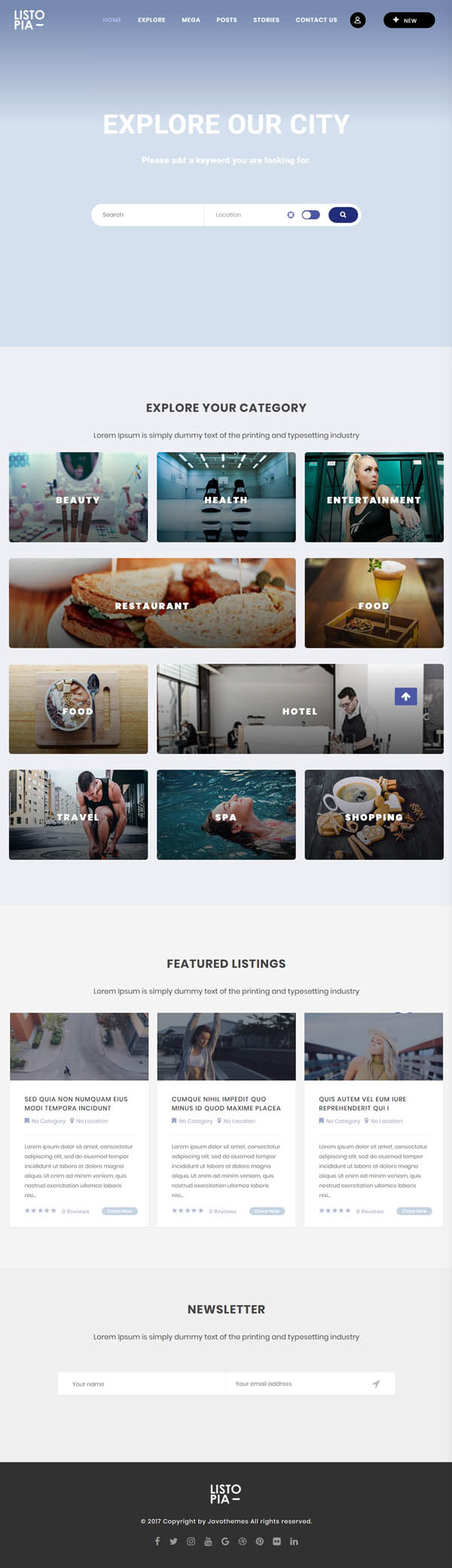 Listopia - Directory, Community WordPress Theme