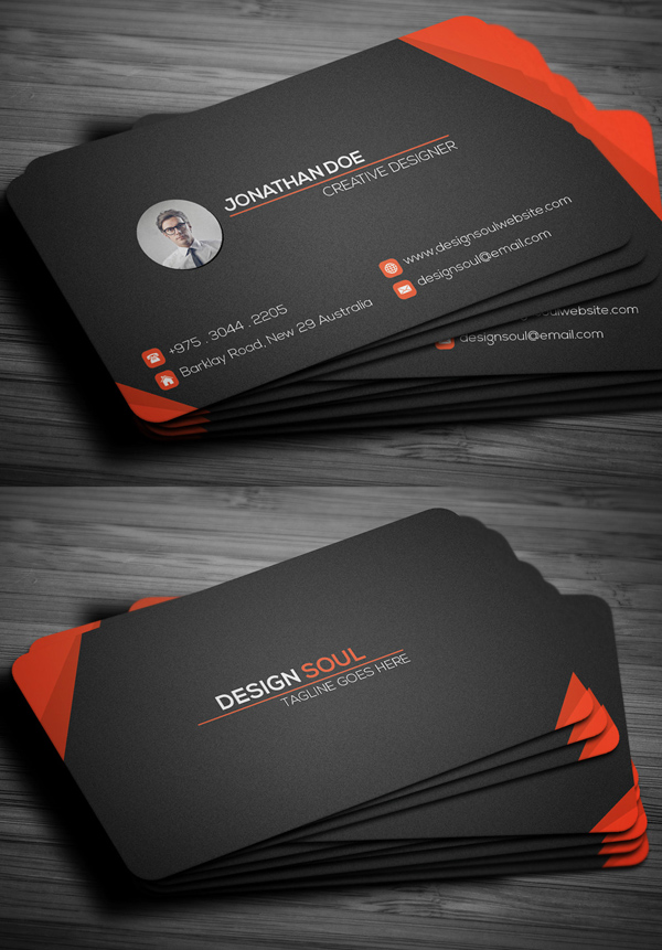 80 best of 2017 business card designs design graphic design corporate business card 80 best of 2017 business card designs reheart Gallery