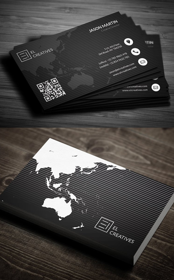 80 best of 2017 business card designs design graphic design creative corporate business card template reheart Image collections