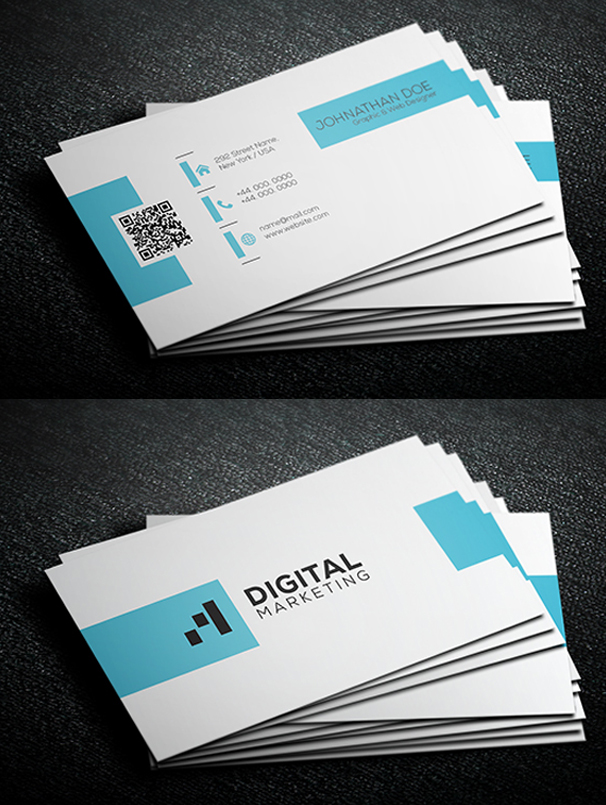80 best of 2017 business card designs design graphic design simple corporate business card template 80 best of 2017 business card designs cheaphphosting Images