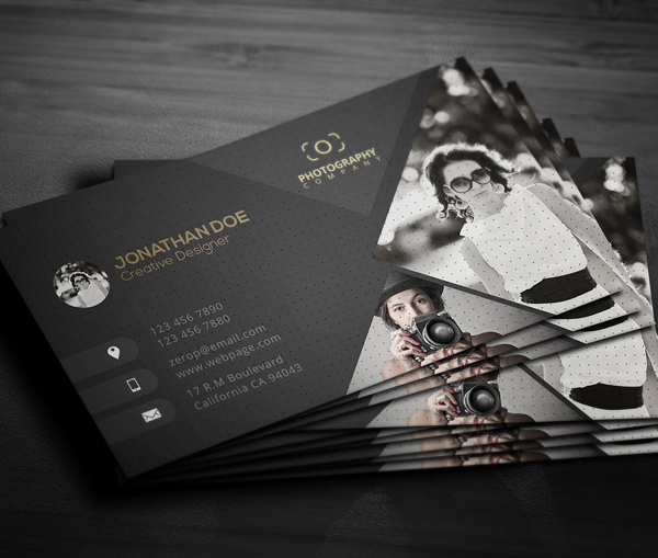 80 best of 2017 business card designs design graphic for Best business cards for photographers
