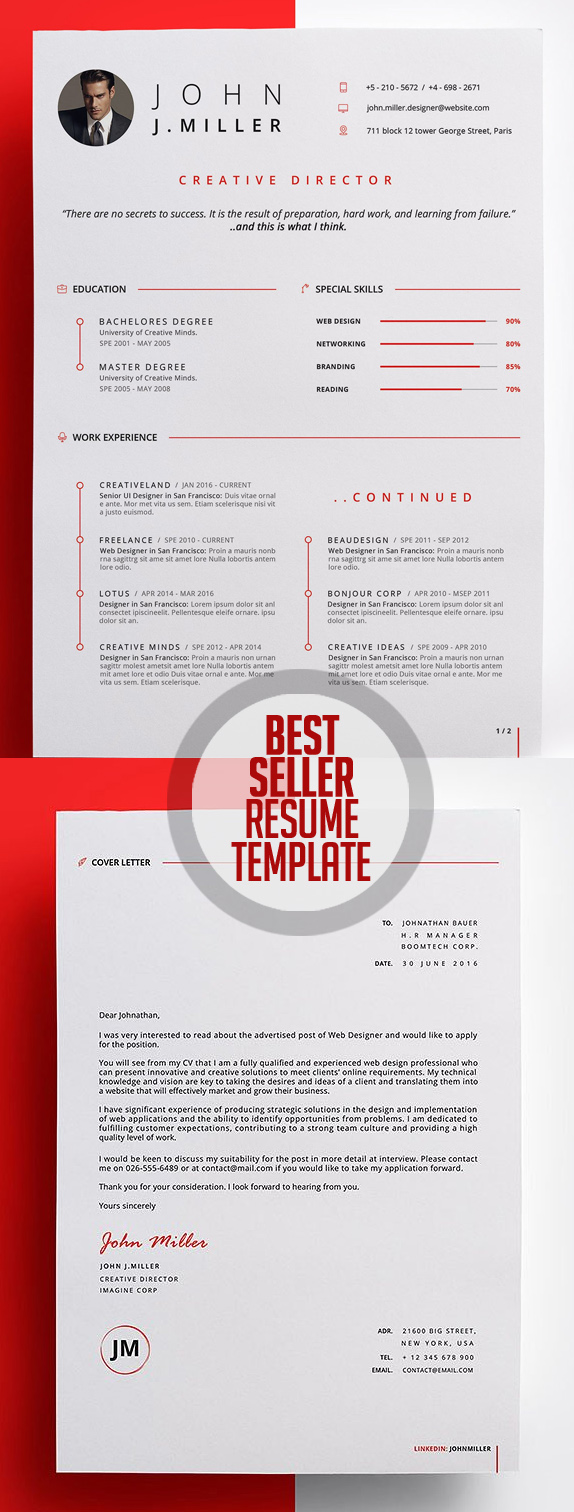 50 Best Resume Templates For 2018   21  Best Designed Resumes