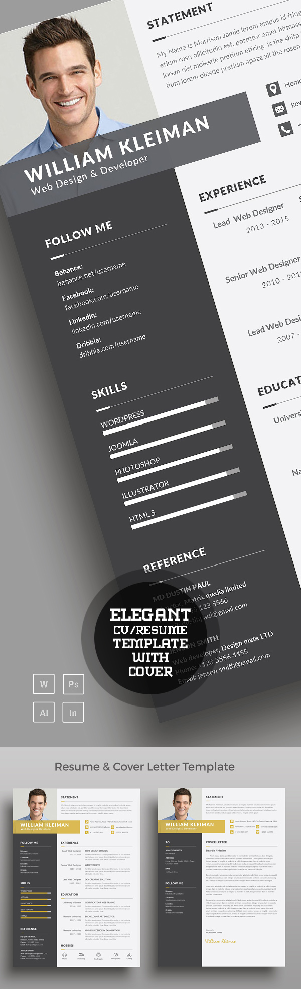 50 Best Resume Templates For 2018 - 22