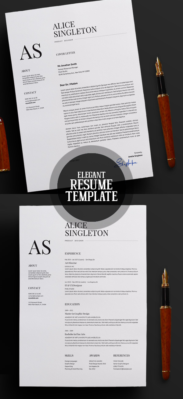 50 Best Resume Templates For 2018 - 27