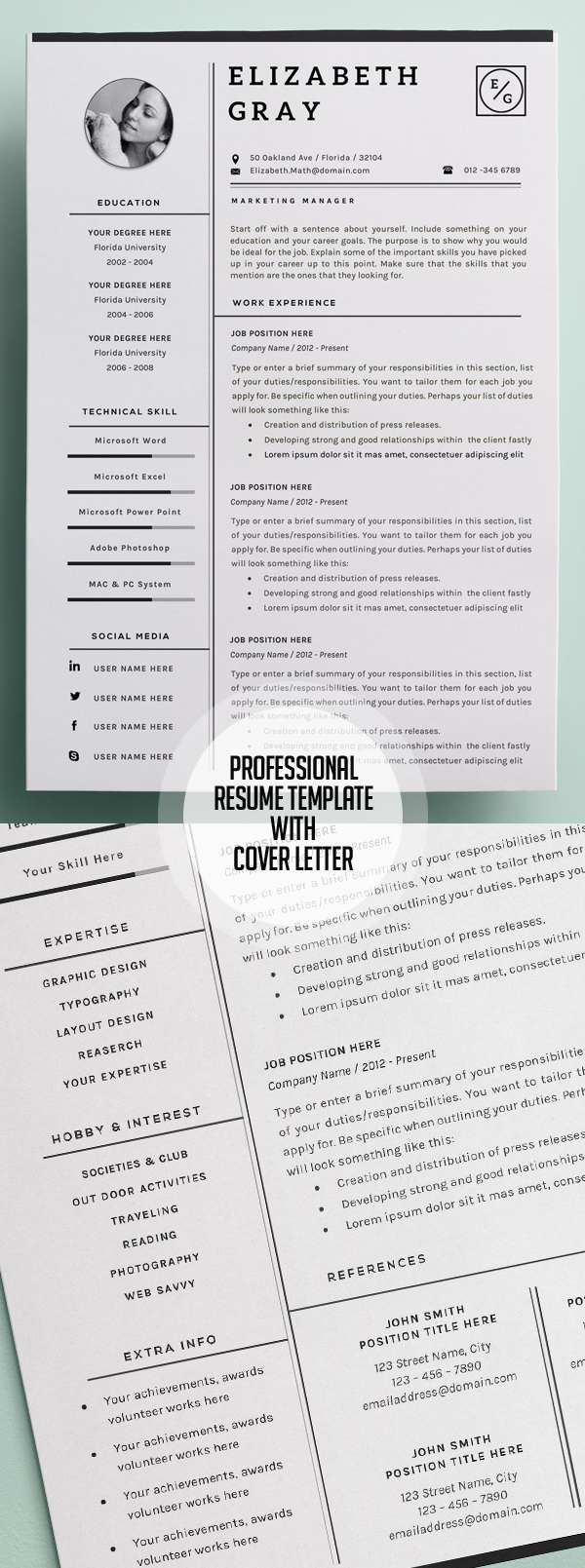 resume Best Resume Images 50 best resume templates for 2018 design graphic junction 30
