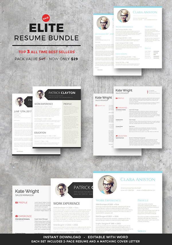 50 Best Resume Templates For 2018 - Bonus 2