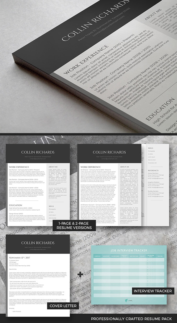 50 Best Resume Templates For 2018 - Bonus 1